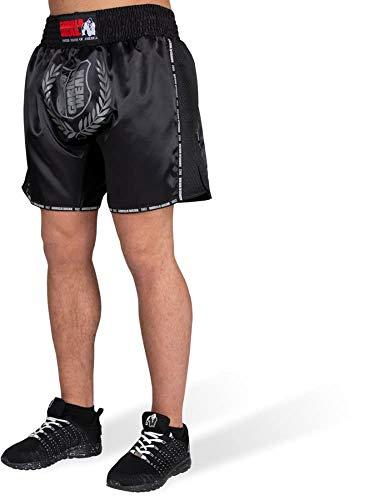 GORILLA WEAR Murdo Muay Thai/Kickboxing Shorts - Bodybuilding und Fitness Bekleidung für Herren, grau, 3XL