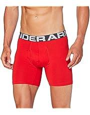 Under Armour Heren Charged Cotton 6-in-3 Pack elastische en sneldrogende boxershorts, extra comfortabele onderbroeken met 4-weg-stretch in verpakking van 3 stuks (3 stuks)