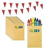 Piñatas de Cumpleaños Infantiles Partituki. 30 Sets de 6 Ceras de Colores y una Guirnalda de 10 m. Ideal para Detalles Cumpleaños Infantiles y Regalos Cumpleaños Niños Colegio