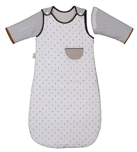 P 'tit Basile - Saco de dormir de invierno para bebé niño, 6-24 meses - 90 cm - con mangas largas extraibles removibles desmontables, algodón orgánico, TOG 2,5 little sweet dreams