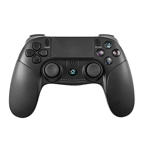 Controlador para PS4, PowerLead Gamepad inalámbrico Mando Pro para Playstation 4 y Playstation 3 Panel táctil for Joypad con juego de vibración dual Control remoto ⭐