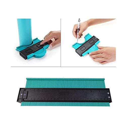 Foonee Duplicador de calibre de contorno, herramienta de replicación de contorno de 10 pulgadas, calibre de perfil, copiar con precisión formas irregulares y corte fácil