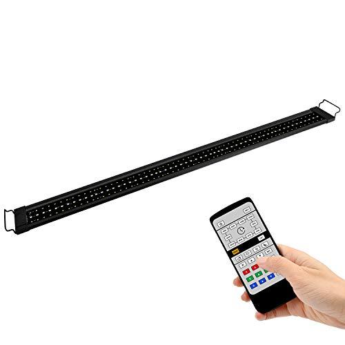 NICREW RGB Plus Luz LED Acuario, Luz Acuario Dulce Agua con Control Remoto, 24/7 Completamente Automatizado LED Acuario, 120-158 cm, 30W