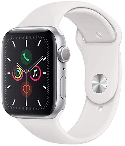 Apple Watch Series 5 44mm (GPS) - Aluminiumgehäuse Silber Weiß Sportarmband (Generalüberholt)