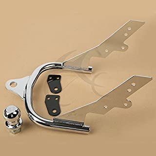 TCMT Motorcycle Chrome Trailer Hitch + Ball Fits For Harley Davidson FLHTCUI Electra Glide Ultra Classic 1995 1996 1997 1998 1999 2000 2001 2002 2003 2004 2005 2006