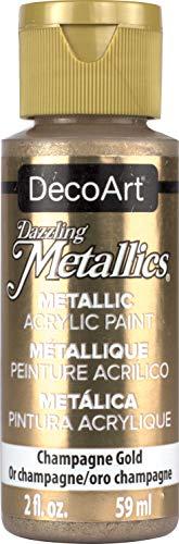 DecoArt Americana - Pintura acrílica Efecto metálico multisuperficie, Color Dorado