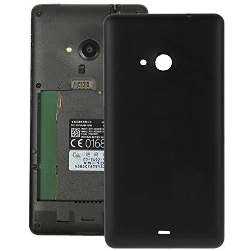HANDYERSATZTEILEGAOPENGMICR Ersatzteile fur Microsoft Mattierte Kunststoff-Gehäusedeckel for Microsoft Lumia 535 (schwarz) (Farbe : Black)