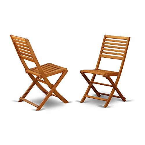 Solid Acacia Solid wood Outdoor Side Foldable Chair-Set of two