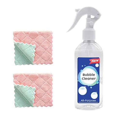 Coversolate Allzweck Küchenreiniger + 2er Microfasertuch, Reiniger Spray Reinigungsmittel Schaumreiniger Entfernt Anhaftenden Schmutz