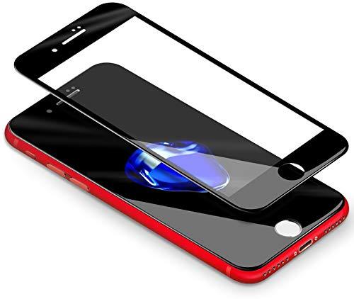 Coolreall Pellicole Protettive Compatibile con iPhone 8 Plus / 7 Plus, [3D Full Coverage] Vetro Temperato Screen Protector Compatibile con iPhone 8 Plus/iPhone 7 Plus (5.5 Pollici)- [3D Touch]-Nero