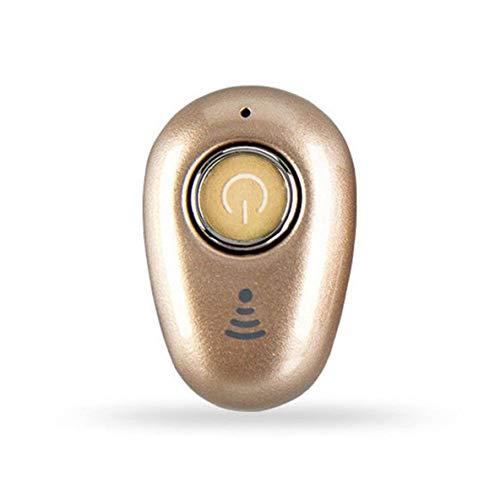 nbvmngjhjlkjlUK Mini Auriculares inalámbricos en la Oreja Auriculares estéreo V4.1 Auriculares Auriculares para teléfonos Inteligentes Dispositivo S650 (Dorado)