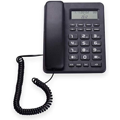 VERDELZ Teléfono Fijo Teléfono Fijo Teléfono Fijo Escritorio con Cable Teléfono Fijo con Pantalla LCD Identificador De Llamadas/Llamada En Espera Altavoz Función De Calculadora