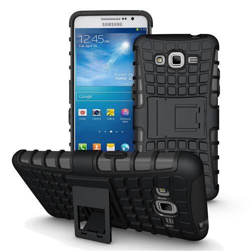 betterfon | Outdoor Handy Tasche Hybrid Hülle Schutz Hülle Panzer TPU Silikon Hard Cover Bumper für Samsung Galaxy Grand Prime G530 / G531 Schwarz