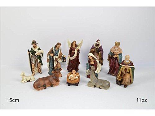 OEM SYSTEMS Decorazione Natale Presepe Nativita' 11 Statuine Soggetti Assortiti 15 Cm Gi005836