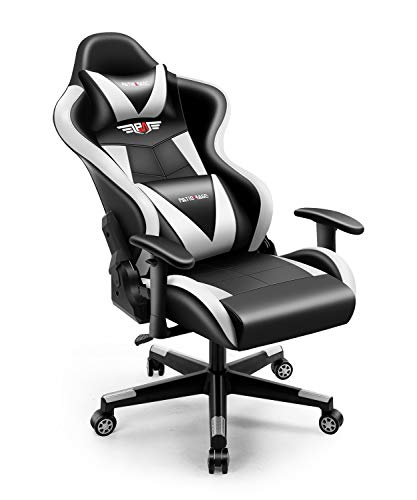 Gaming Chair,PatioMage Office Chair Racing Computer Gaming Chairs Ergonomic Video Game Chair Backrest and Seat Height Adjustable Swivel Recliner with Headrest and Lumbar Pillow E-Sports Chair
