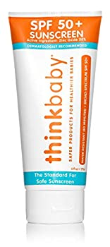 Baby Sunscreen Natural Sunblock from Thinkbaby Safe Water Resistant Sunscreen - SPF 50+  6 ounce