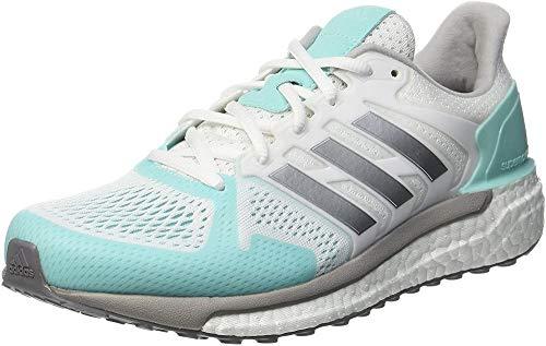 Reebok Damen Supernova ST Laufschuhe, Weiß (Footwear White/Silver Metallic/Energy Aqua), 41 1/3 EU
