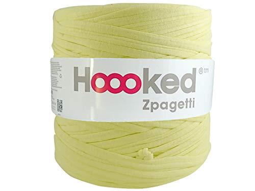 Hoooked Zpagetti Chartreuse T-Shirt-Garn, Baumwolle, 120 m, 700 g, Grün