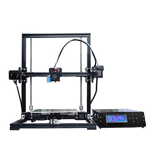 L.J.JZDY Imprimante 3D X3A DIY Kits Imprimante 3D Nivellement Automatique Impression 3D Extrudeuse Bowden 2 Rouleau PLA Filament comme Cadeau