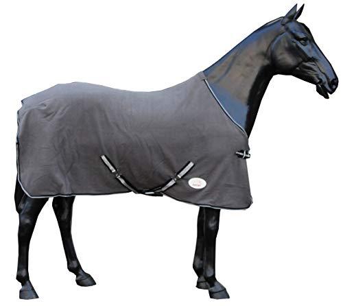 AMKA paarden fleece deken sledeken, grijs met kruisriemen
