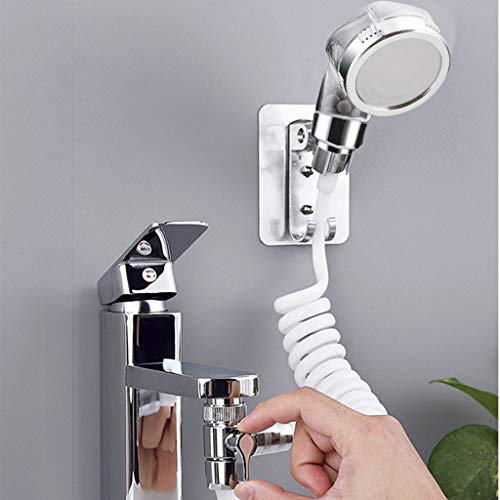 Xdodnev Shower Tap, Bathroom Wash Face Basin Water Tap External Shower Head Holder Set