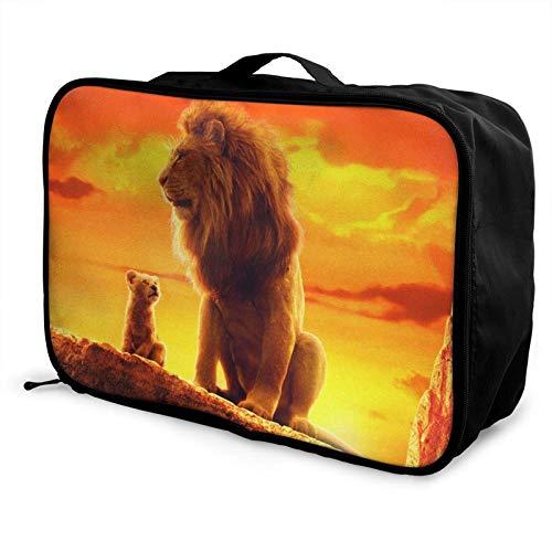 L-ion K-ing Travel Lage Duffel Bag Lightweight Suitcase Portable Bags for Women Men Kids Waterproof Large Bapa Caity