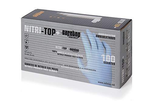Safetop G049Pf-9 - Nitritop plus. guante nitrilo sin polvo talla 9l
