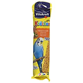 Vitakraft Budgie Kracker Bird Food Honey-Sesame, Pack of 7