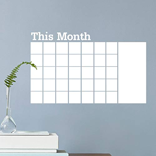 XIAOBAOZIQT muursticker stickers deze maand whiteboard sticker kalender Blackboard verwijderbare persoonlijkheid mode creatieve woonkamer slaapkamer muursticker poster (wit)