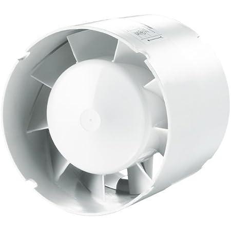100mm Rohrl/üfter Badl/üfter Rohrventilator Einschubl/üfter f/ür Entl/üftung und Bel/üftung