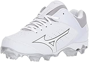 Mizuno Women's 9-Spike Advanced Finch Elite 3 Fastpitch Cleat Softball Shoe, White/White, 8 B US