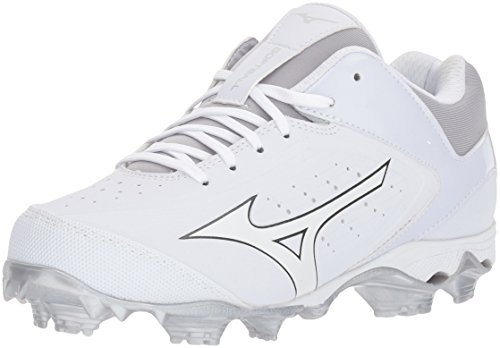 Mizuno Women's 9-Spike Advanced Finch Elite 3 Fastpitch Cleat Softball Shoe, White/White, 10 B US