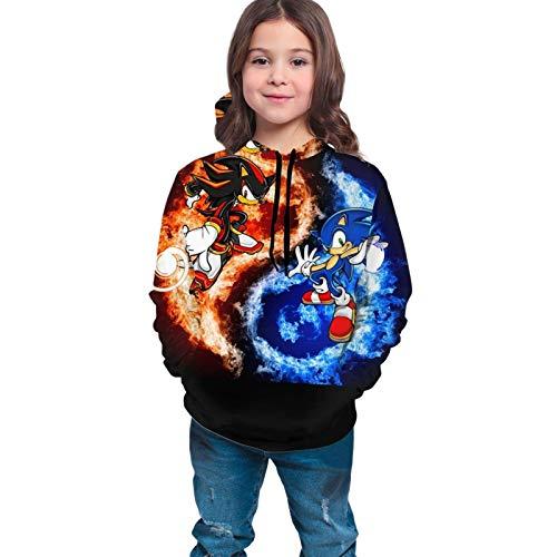 Lawenp Suéter Unisex para niños / jóvenes Son IC and Shadow Sudadera con Capucha con Estampado gráfico en 3D para niños Sudaderas con Bolsillo