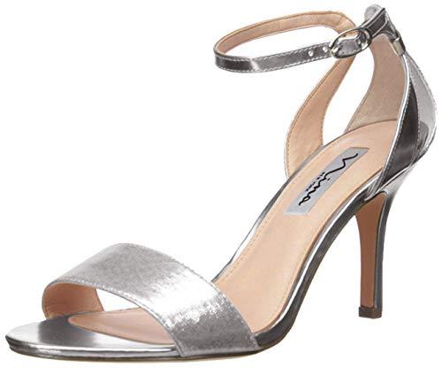 Nina Women's Venetia Dress Sandal, Silver, 10 M US