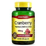 Cranberry 400mg Vitamina C e Zinco - Maxinutri