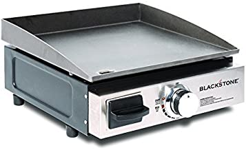 Blackstone Table Top Grill - 17 Inch Portable Gas Griddle - Propane Fueled - For Outdoor Cooking While Camping, Tailgating or Picnicking (Renewed)