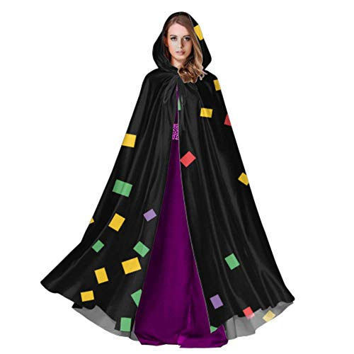 LONGYUU Futuristische Prisma Zylinder Quader Cape Mantel Kleid Umhänge und Mäntel 59 Zoll für Weihnachten Halloween Cosplay Kostüme