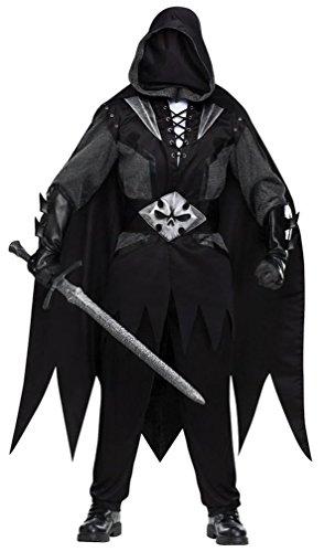 FunWorld Evil Knight Complete, Black/Grey, One Size Costume