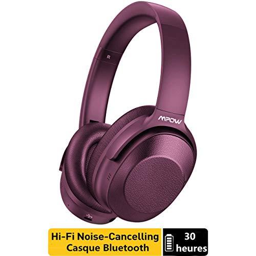 Mpow 059 Pro Bluetooth Kopfhörer Over Ear mit 60 Std, Bluetooth 5.0 Kabellose Headset mit Mikrofon, HiFi-Sound, Leichte Faltbare Over Ear Bluetooth Kopfhörer für TV/iPhone/ipad/Android/Laptops Bluetooth Kopfhörer