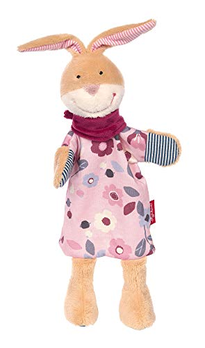 Sigikid 39272 Handpuppe-Schnuffeltuch Rosalie Rose, rosa/beige