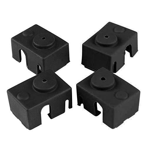 3D Parti e Accessori Silicone Sock Cover per Stampante 3D Coperchio in Silicone Compatibile con E3D V6-4pcs Nero