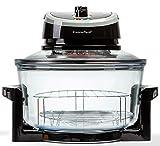 PremierTech Forno Alogeno ad Aria Ventilato 17 litri 1400 watt Multifunzione cuoce senza olio (Nero) PT-FA12B