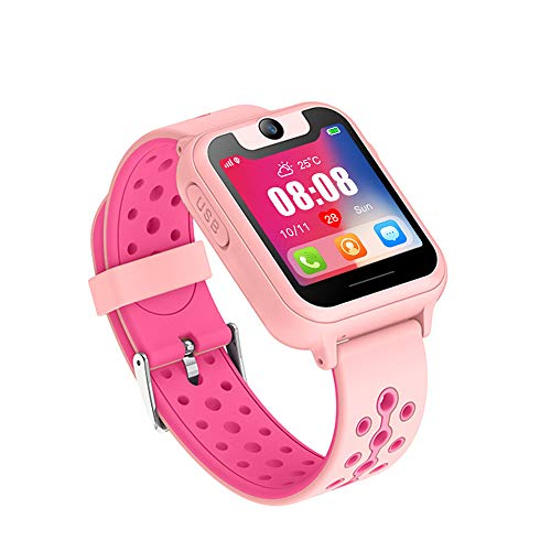 Beacon Pet Smart Watch, Smartwatches for 3-12 Year Old, Multi-Function Touch Screen Smartwatch with Camera Watch Educational Toys Best Christmas Birthday Gifts - Pink
