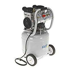 Quipall 10-2-SIL 2 HP 10 Gallon Oil-Free Portable Air Compressor