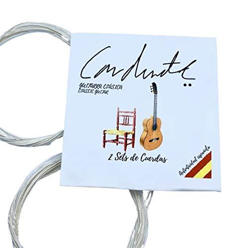 BIGDOM KIT de 2 JUEGOS DE CUERDAS para Guitarra Clásica Española, 12 Cuerdas guitarra. 2 Paquetes de Cuerdas de Nylon para Guitarra Flamenca, Clásica o Española.