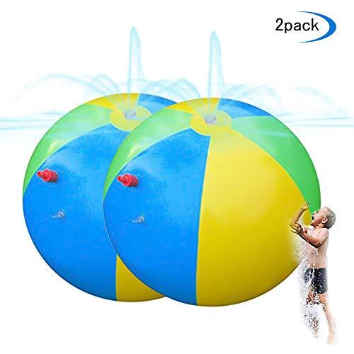 FDYD 2 PC-Sprinkler-Kugel-Spielzeug Aufblasbares Regenbogen-Spritzen Und Spray Beach Ball Geeignet Für Pool Beach Pool Spiel
