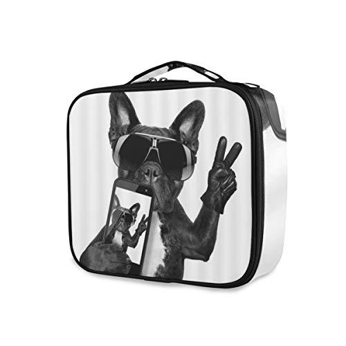 SUGARHE Perro Creativo Animal Doméstico Animal Bulldog Negro como Caballeros Hipster Cachorro...