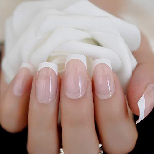 CSCH Faux ongles Ronde Pré-conçu Faux Ongles Noir Argent Glitter UV Gel Faux Ongles Conseils pour Dame Court Wrap Complet Outils De Manucure Chaude 24 Pcs