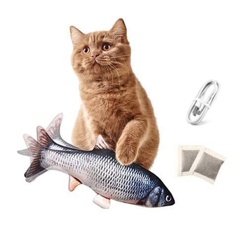 Bangcool Elektrische Fische Katze,USB Fisch/Plüsch Fisch/Haustier Fischspielzeug für Katze
