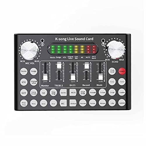 JYDQM Mezclador Profesional DJ Equipo en Vivo Tarjeta de Sonido Micrófono Conjunto,...